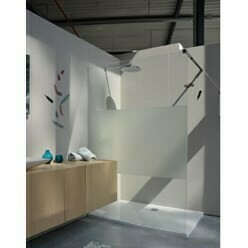 douchewand open wall 120 - 200 chroom intimi