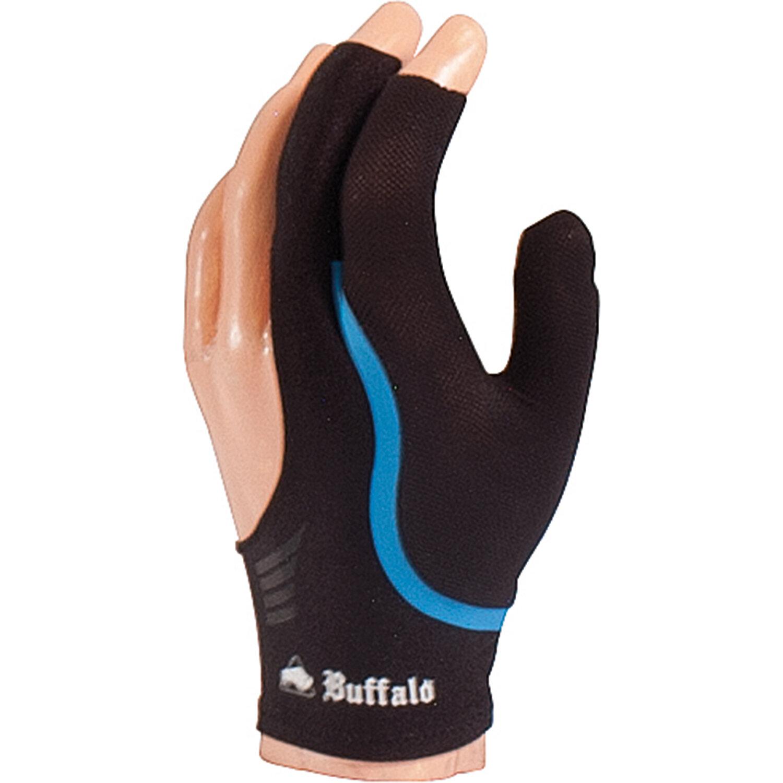 BUFFALO Reversible biljarthandschoen zwart/blauw S t/m XL