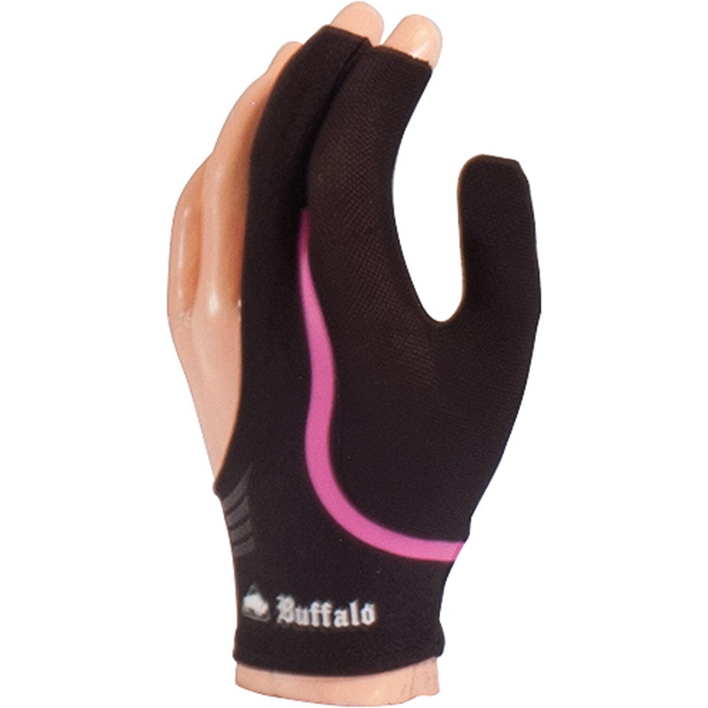 BUFFALO Reversible biljarthandschoen zwart/roze S t/m XL