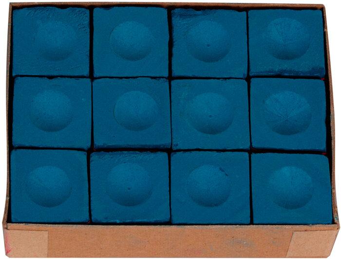 Triangle biljart krijt blauw (12st.)