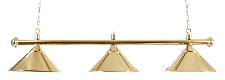 Lamp type pool met drie kappen messing