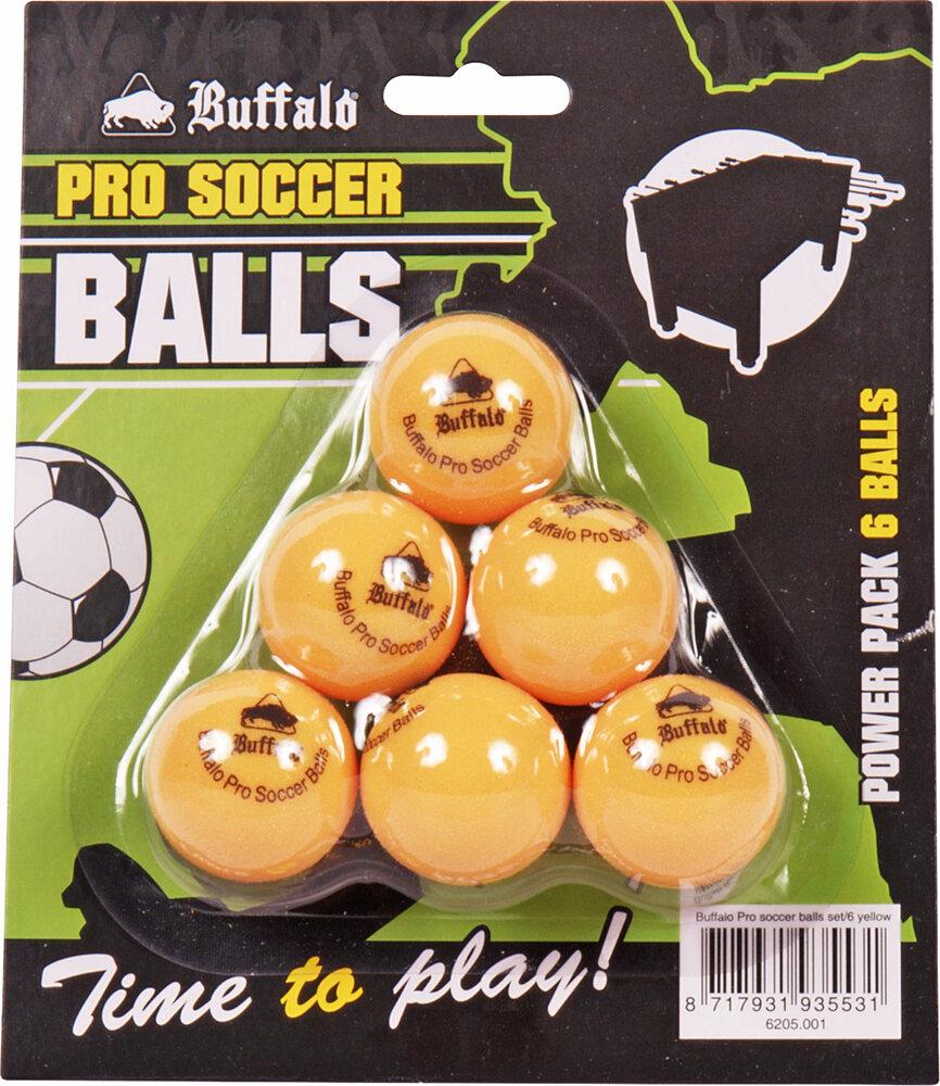 Buffalo Pro tafelvoetbal balletjes set/6pcs yellow
