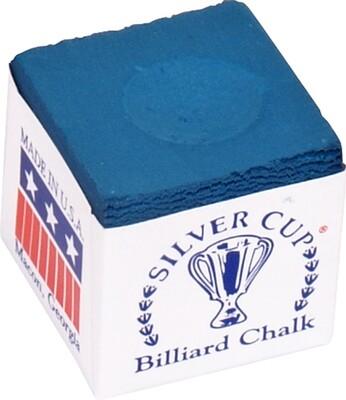 Silver Cup biljart krijt blauw (12st.)