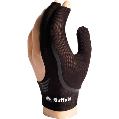 BUFFALO Reversible biljarthandschoen zwart/zwart S t/m XL