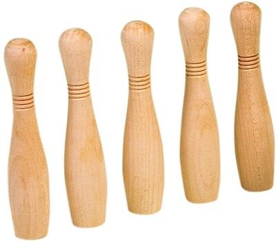Biljartkegels hout zonder koning 10.5cm