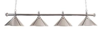 Lamp type pool met vier kappen chroom