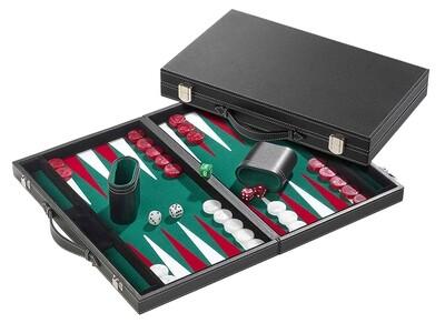 PHILOS  Backgammon groen groot 46,5x28cm