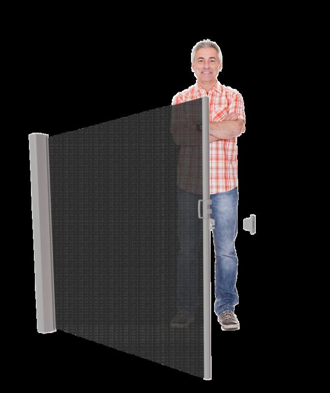 Inova uittrekbaar windscherm met zonwering ≤ 185 cm