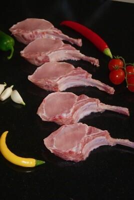 Koteletjes van de Pork Rib Roast.