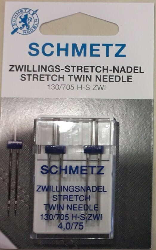 Schmetz tweelingnaalden stretch 4/75