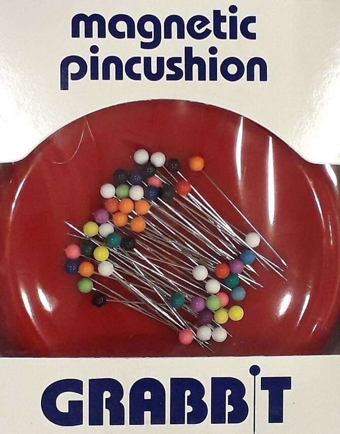 Magnetisch speldenkussen Grabbit met spelden