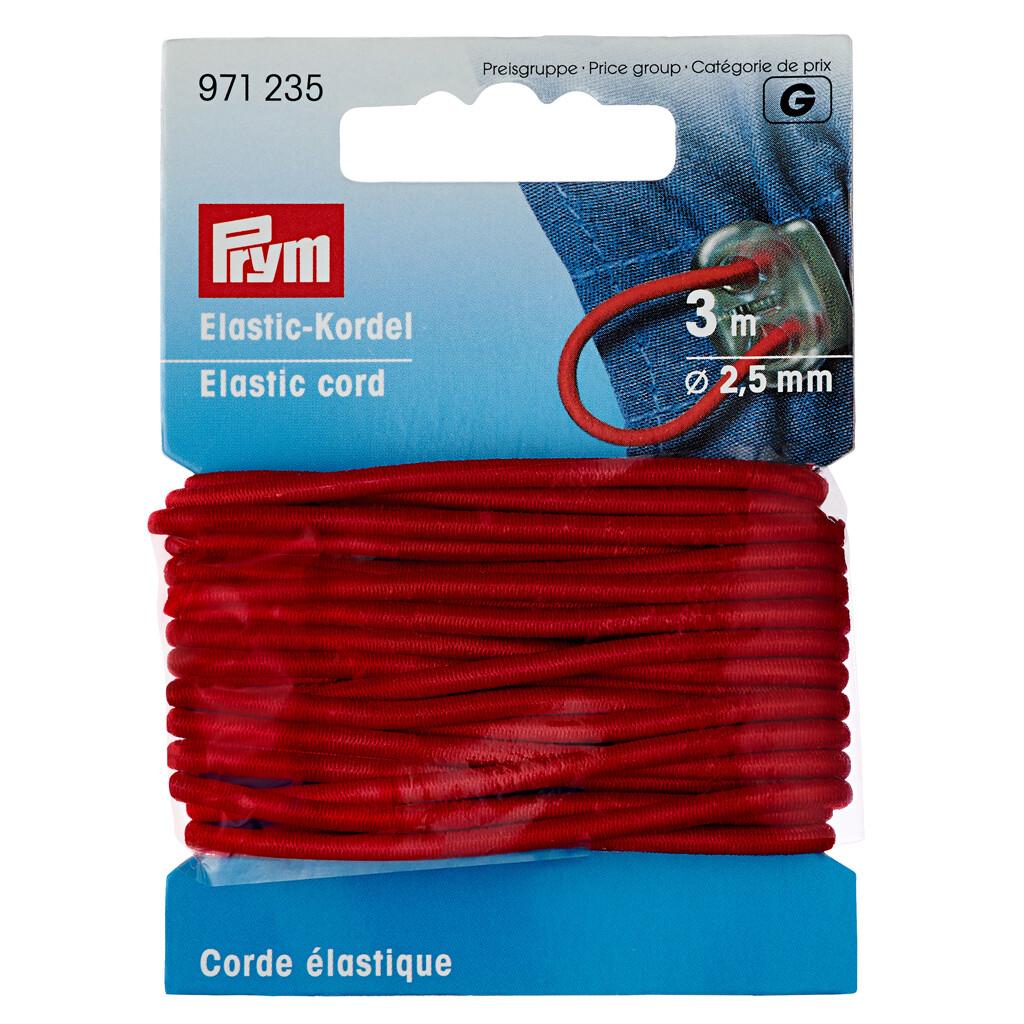 Koord elastiek 2,5mm rood