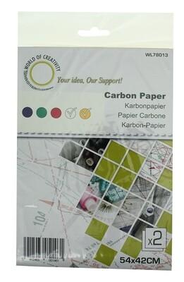 Carbon papier wit-geel