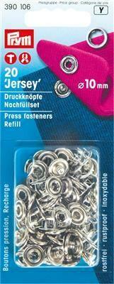 """Drukknopen """"jersey"""" 10mm ring navulling"""