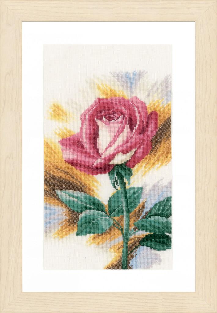 """Kruissteek Lanarte """"Roze roos"""""""