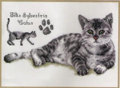 "Kruissteek ""Felix de kat"""