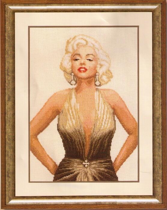 "Kruissteek ""Marilyn Monroe"""