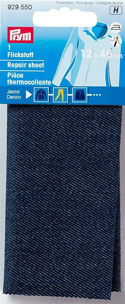 Verstelstuk jeans opstrijkbaar donkerblauw
