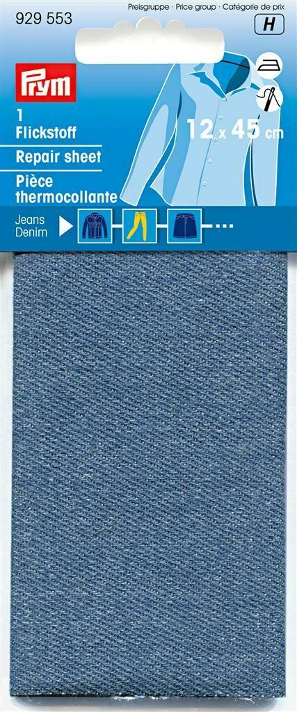 Verstelstuk jeans opstrijkbaar middenblauw