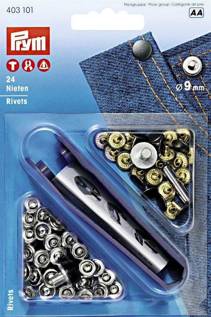 Siernieten rivetten 9mm zilver/oudijzer