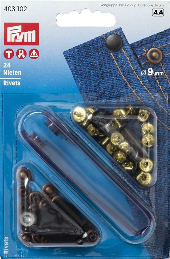 Siernieten rivetten 9mm oudkoper/brons