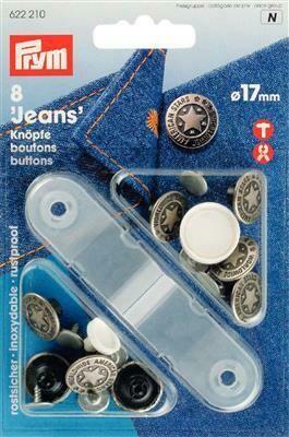 Jeansknop 17mm oudzilver