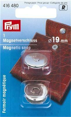 Magneetsluiting knop 19mm zilver
