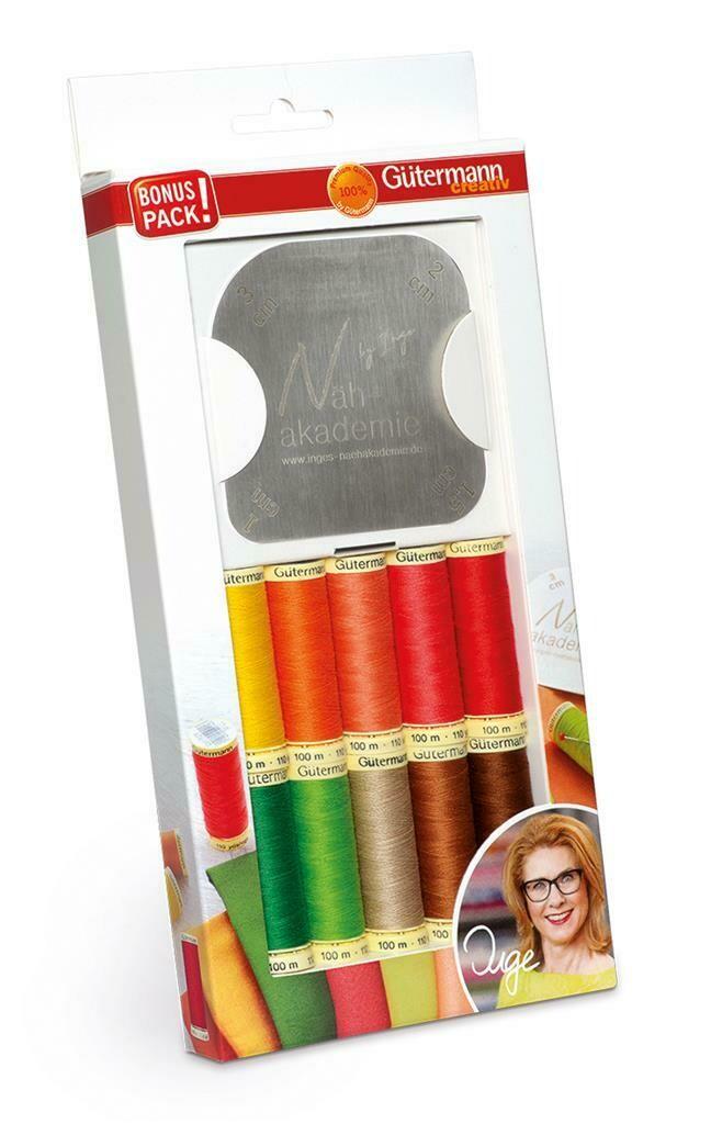 Gütermann bonuspack 10 kleuren + strijksjabloon