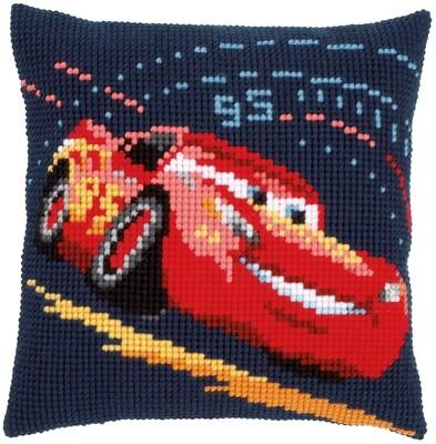 Kruissteek kussen Disney Cars Lightning McQueen
