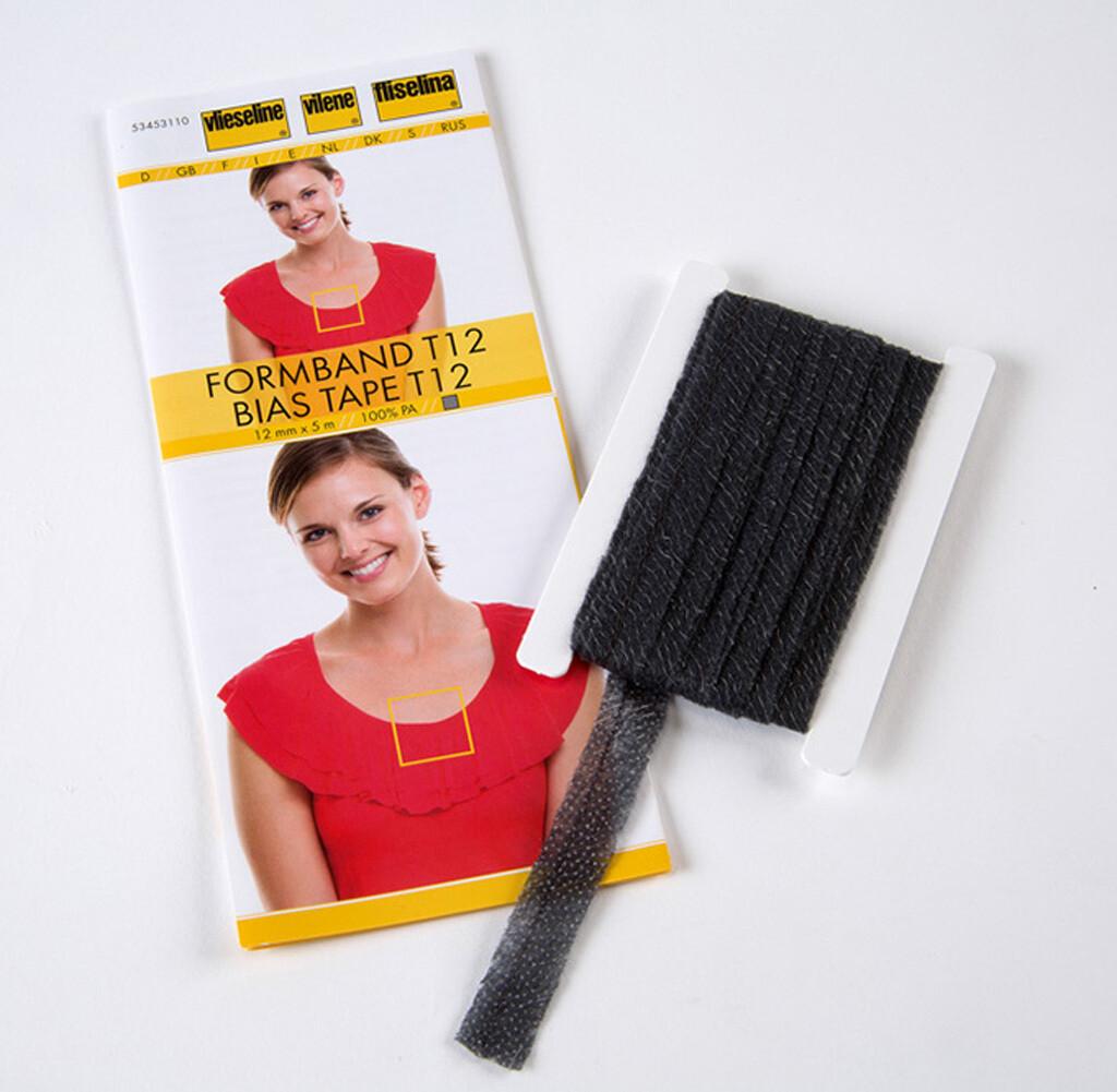 Vlieseline vormband zwart