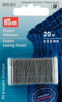 Elastisch naaigaren 0,5mm grijs