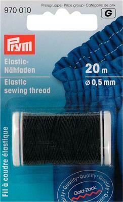 Elastisch naaigaren 0,5mm zwart