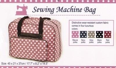 Draagtas naaimachine polkadot rood