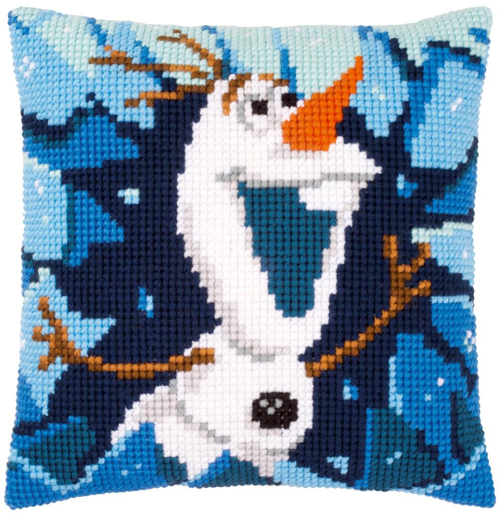 Kruissteek kussen Disney Frozen Olaf