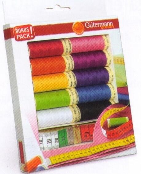 Gütermann bonuspack 10 kleuren + lintmeter