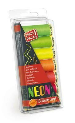 Gütermann bonuspack Neon 7 kleuren