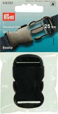 Klik gesp 25mm zwart