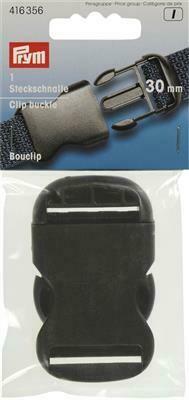 Klik gesp 30mm zwart