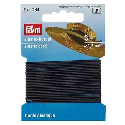 Hoeden elastiek 1,5mm zwart