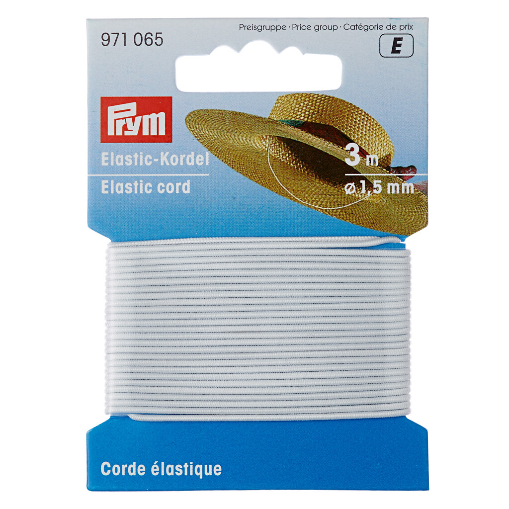 Hoeden elastiek 1,5mm wit