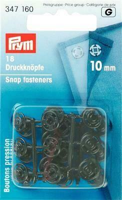 Drukknopen plastic 10mm zwart