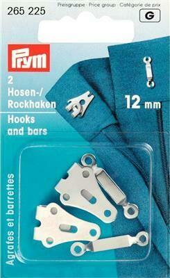 Broek- & rokhaken 12mm 2 stuks