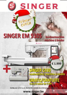 Singer EM9305 borduurmachine december promo