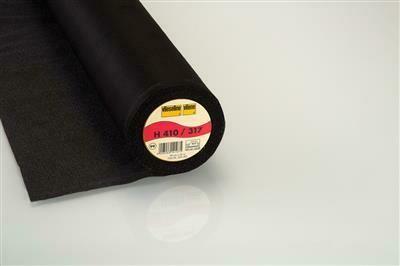 Vlieseline H410 zwart op 60cm
