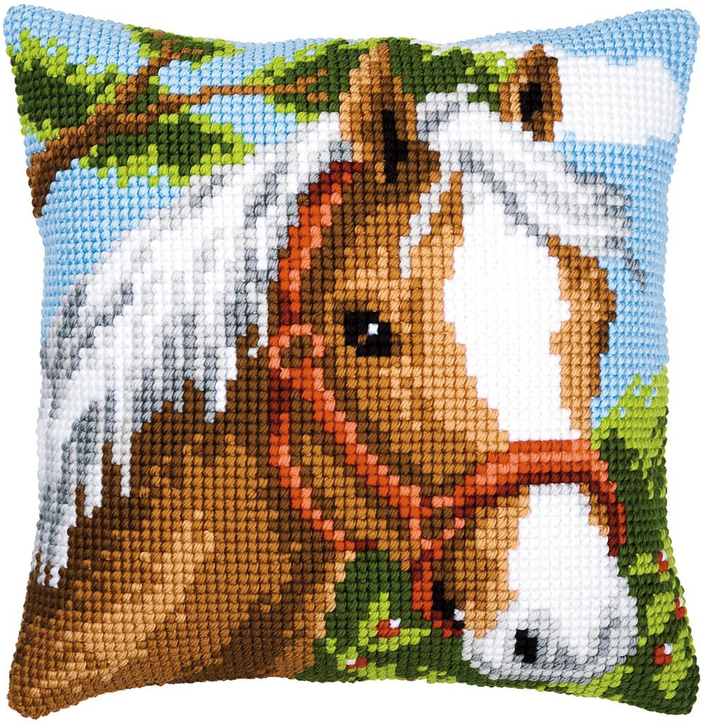 Kruissteek kussen Paard