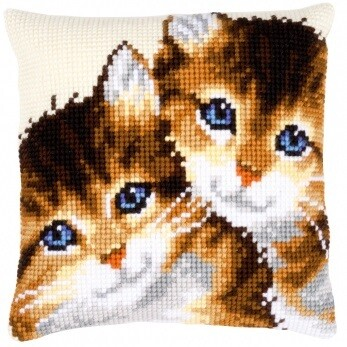 Kruissteek kussen Kittens
