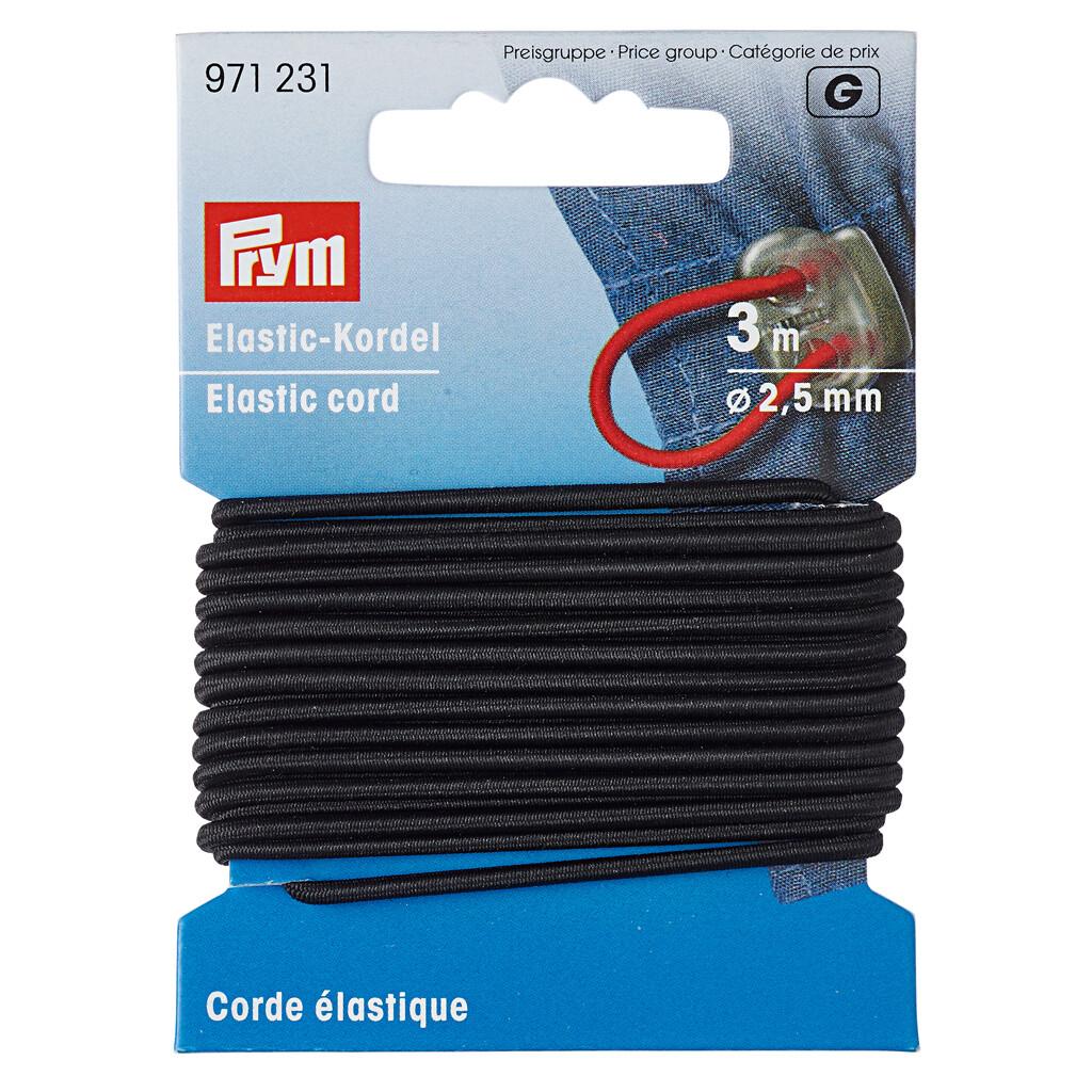 Koord elastiek 2,5mm zwart