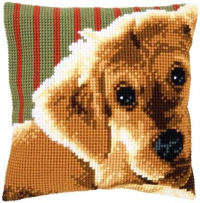 Kruissteek kussen Lieve pup