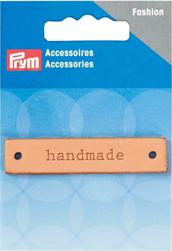 """Label """"handmade"""" leder"""