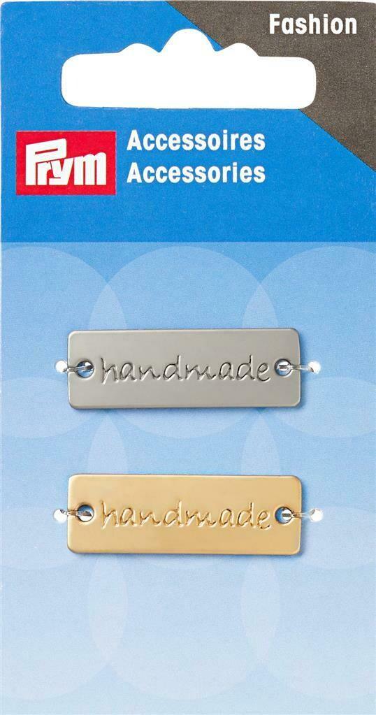 """Label """"handmade"""" goud & zilver"""